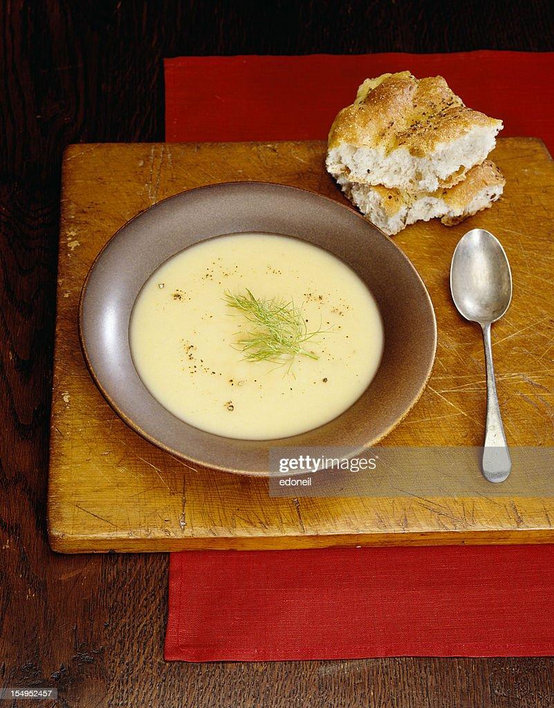 Cream of potato soup : Stock Photo