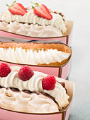 Creamed Meringue And Chocolate Eclair