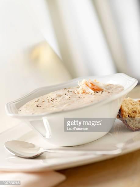 Soupe de crabe crème