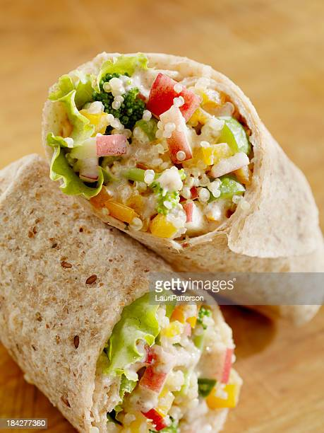 Creamy Quinoa and Vegetable Salad Wrap
