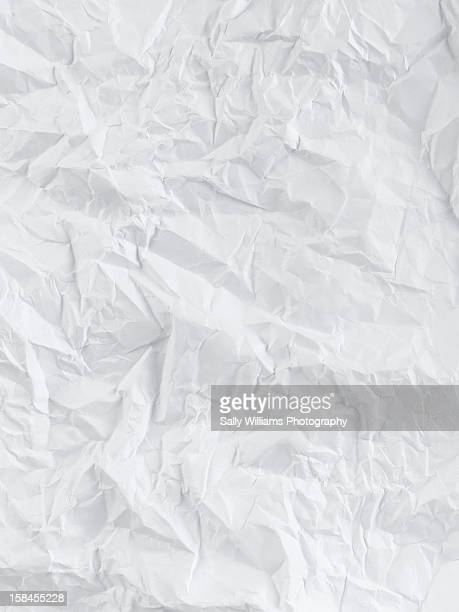Creased white sheet of paper