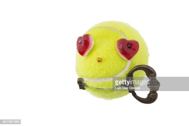 create a multi-purpose holder with an used tennis ball