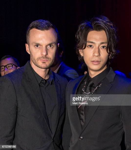 Creatiive Director of Dior Homme Kris Van Assche and Shohei Miura attend the Dior Homme 2017 Fall Presentation at Differ Ariake on April 19 2017 in...