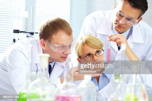 Creating medicine : Stock Photo