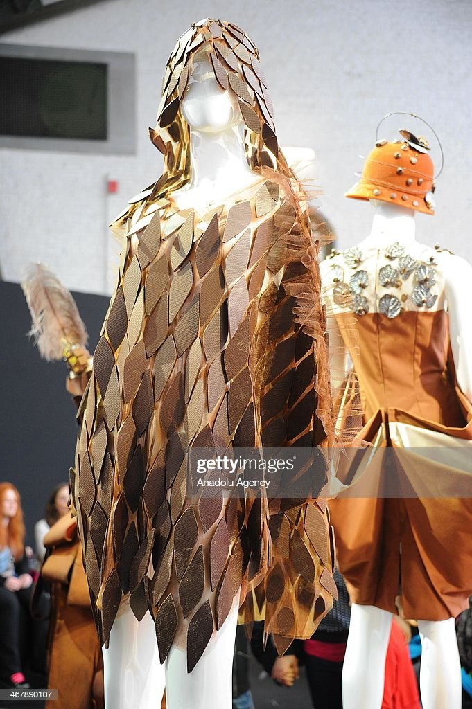 A creation made of chocolate is displayed at the Salon du Chocolat in Brussels, Belgium, on February 8, 2014. The chocolate fair 'Salon du Chocolat' runs from 07 to 09 February 2014.