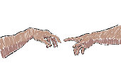 illustration (by me) of hands