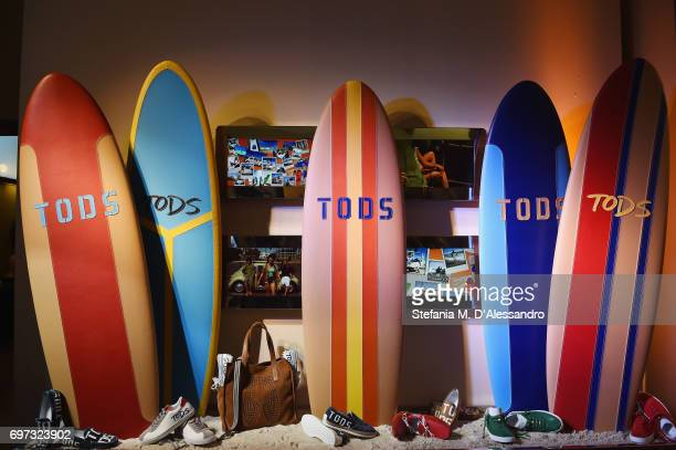 Creations are displayed at the Tod's Presentation during Milan Men's Fashion Week Spring/Summer 2018 on June 18 2017 in Milan Italy