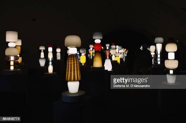 Creations are displayed during Milan Design Week 2017 on April 5 2017 in Milan Italy