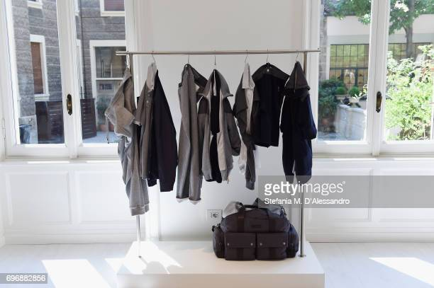 Creations are displayed during the Brunello Cucinelli Presentation as part of Milan Men's Fashion Week Spring/Summer 2018 on June 17 2017 in Milan...