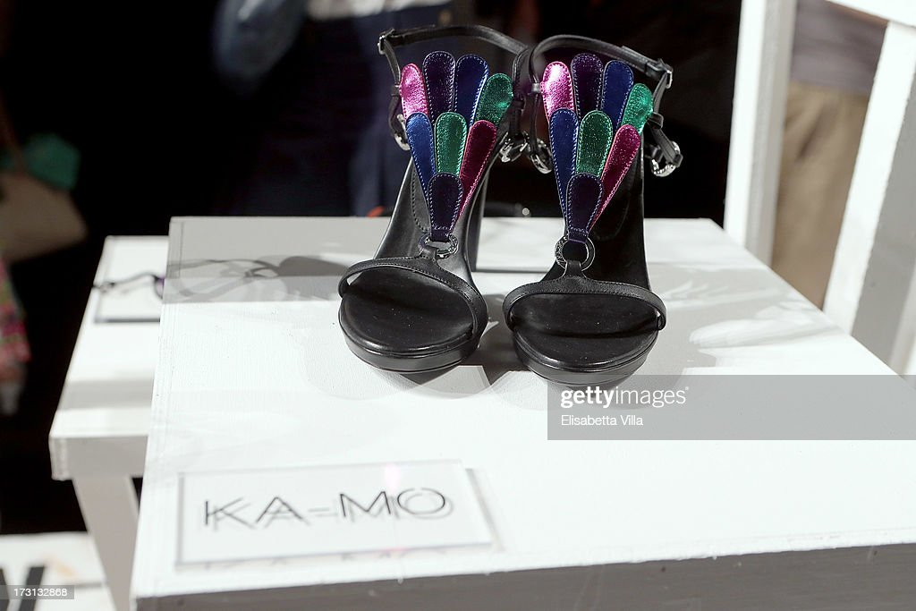 Creations are displayed during 'Who Is On Next?' Altaroma Vogue Italia fashion show as part of AltaRoma AltaModa Fashion Week at Santo Spirito In Sassia on July 8, 2013 in Rome, Italy.