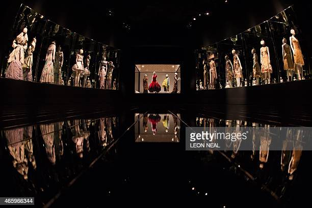 Creations from the 'It's Only a Game' Spring / Summer 2005 collection are on display during a press preview of Alexander McQueen's 'Savage Beauty'...
