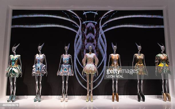 Creations from the 'Plato's Atlantis' Spring / Summer 2010 collection are on display during a press preview of Alexander McQueen's 'Savage Beauty'...