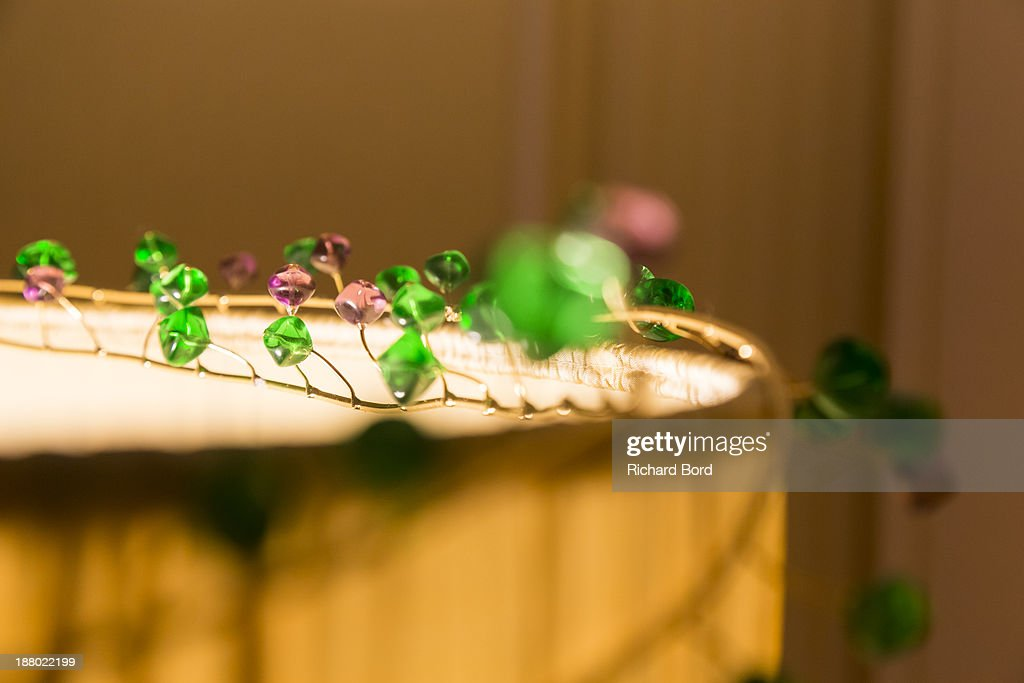 Creations of artist Yi Zhou are seen in the Yi Zhou's 'Paradise Suite' at Hotel Lutetia on November 14, 2013 in Paris, France.