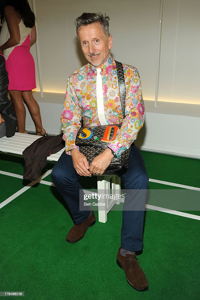 Creative Ambassador-at-Large for Barneys <a gi-track='captionPersonalityLinkClicked' href=/galleries/search?phrase=Simon+Doonan&family=editorial&specificpeople=5310702 ng-click='$event.stopPropagation()'>Simon Doonan</a> attends the Lisa Perry presentation during Mercedes-Benz Fashion Week Spring 2014 on September 4, 2013 in New York City.