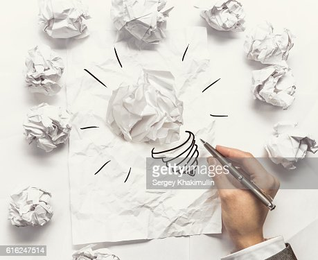 Creative and outstanding idea . Mixed media : Foto de stock