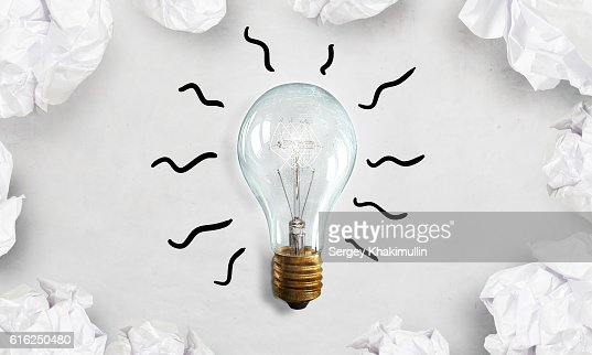 Creative and outstanding idea . Mixed media : Stock Photo