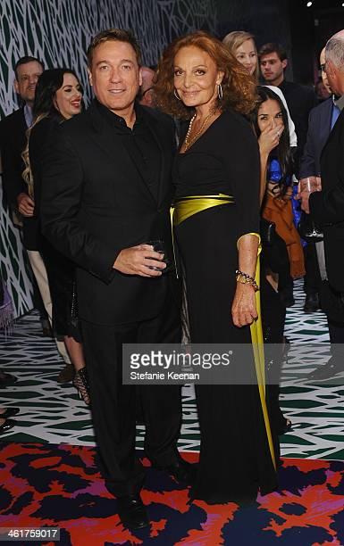 Creative Artists Agency Managing Partner Kevin Huvane and designer Diane Von Furstenberg attend Diane Von Furstenberg's Journey of A Dress Exhibition...
