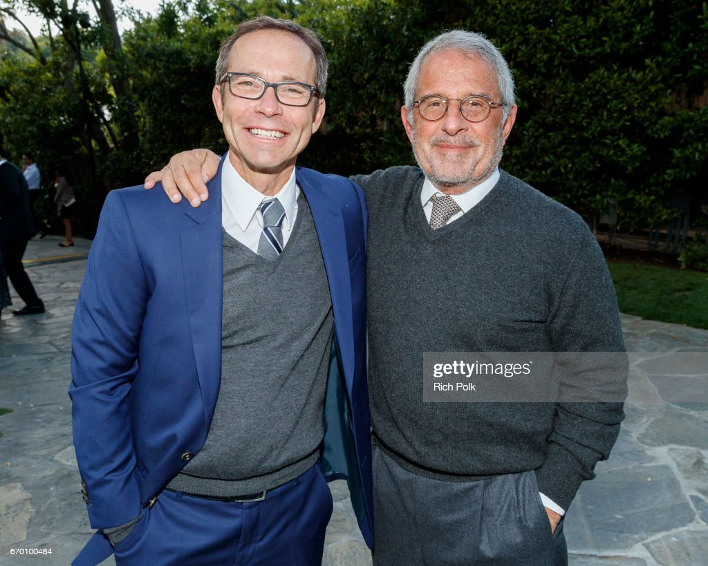 Creative Artists Agency President Richard Lovett and Ron Meyer, Vice Chairman, Universal, attend Communities In School LA Gala on April 18, 2017 in Los Angeles, California.