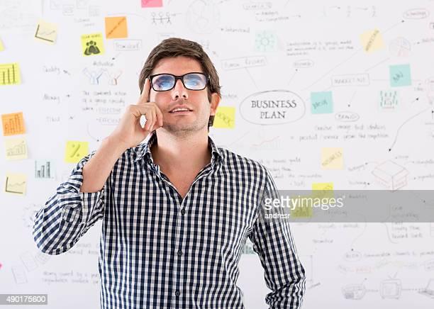 Creative business man thinking
