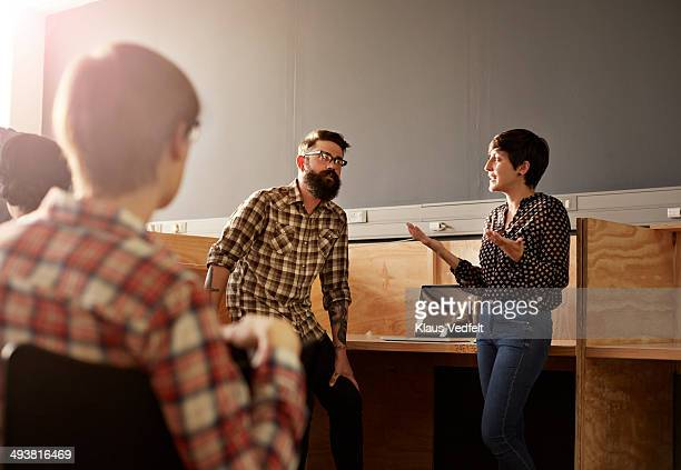 Creative business people having casual meeting