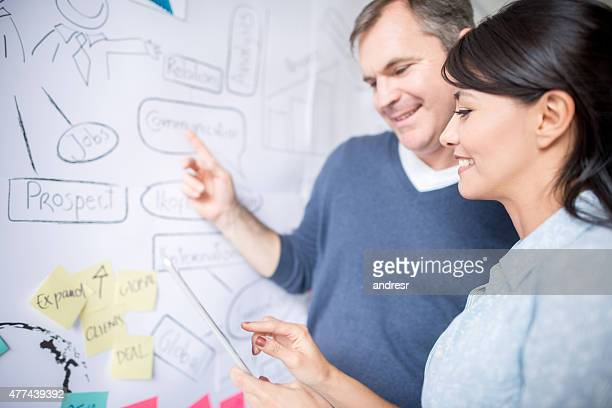 Kreative business people working together