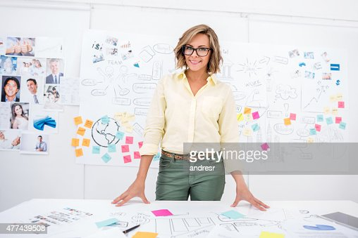 Creative business woman at the office