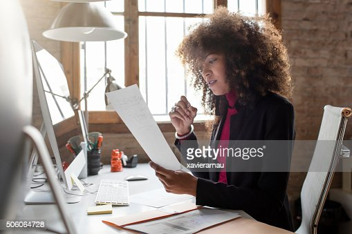 Creative businesswoman working in the office