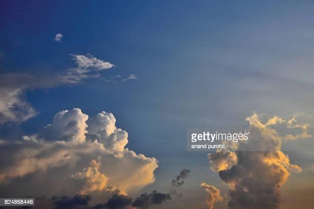 Creative clouds in blue sky