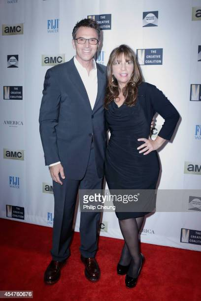 Creative Coalition President Tim Daly and Creative Coalition CEO Robin Bronk attend The Creative Coalition's Spotlight Initiative Awards Dinner...