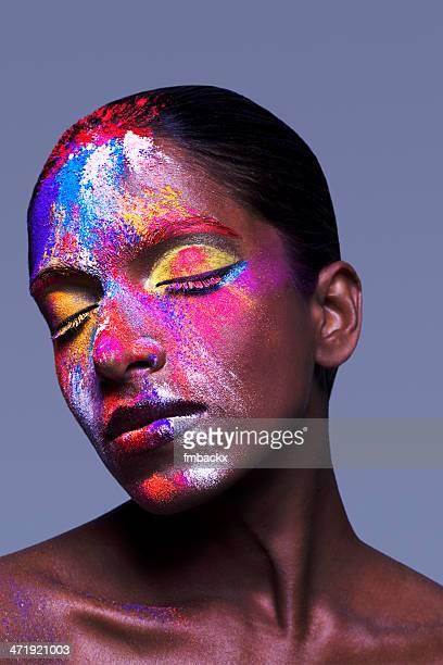 Creative di polveri colorate bellezza scuro