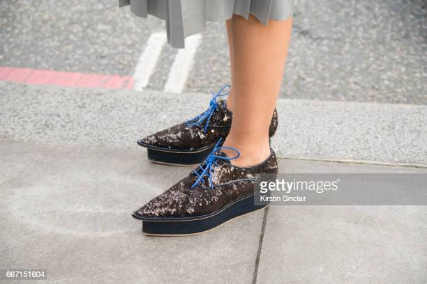 Creative consultant for art and culture and Artistic director for Spring Place Hikari Yokoyama on day 4 of London Womens Fashion Week Autumn/Winter...
