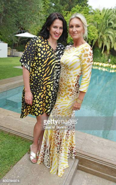 Creative Director Amy Molyneaux and CoFounder Helen Johnson attend the Lelloue launch party at Villa St George on July 21 2017 in Cannes France