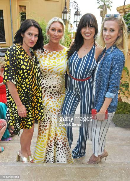 Creative Director Amy Molyneaux CoFounder Helen Johnson Daisy Lowe and Portia Freeman attend the Lelloue launch party at Villa St George on July 21...