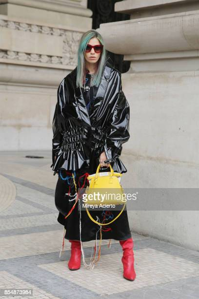 Creative director and founder of Beyond The Mag Sophia Macks attends the Maison Margiela show as part of the Paris Fashion Week Womenswear...