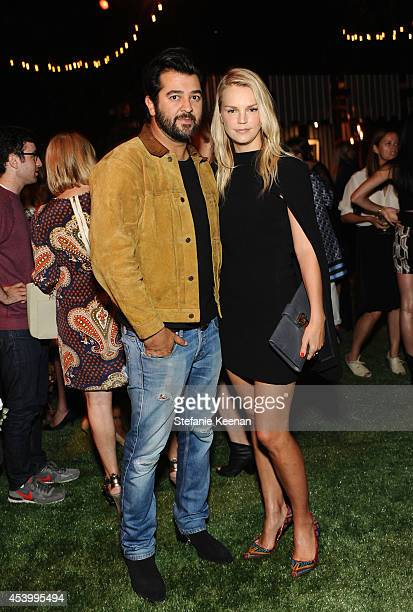 Creative Director and Owner of Genetic Denim Ali Fatourechi and Kelly Sawyer attend GENETIC x Liberty Ross Launch on August 22 2014 in Beverly Hills...