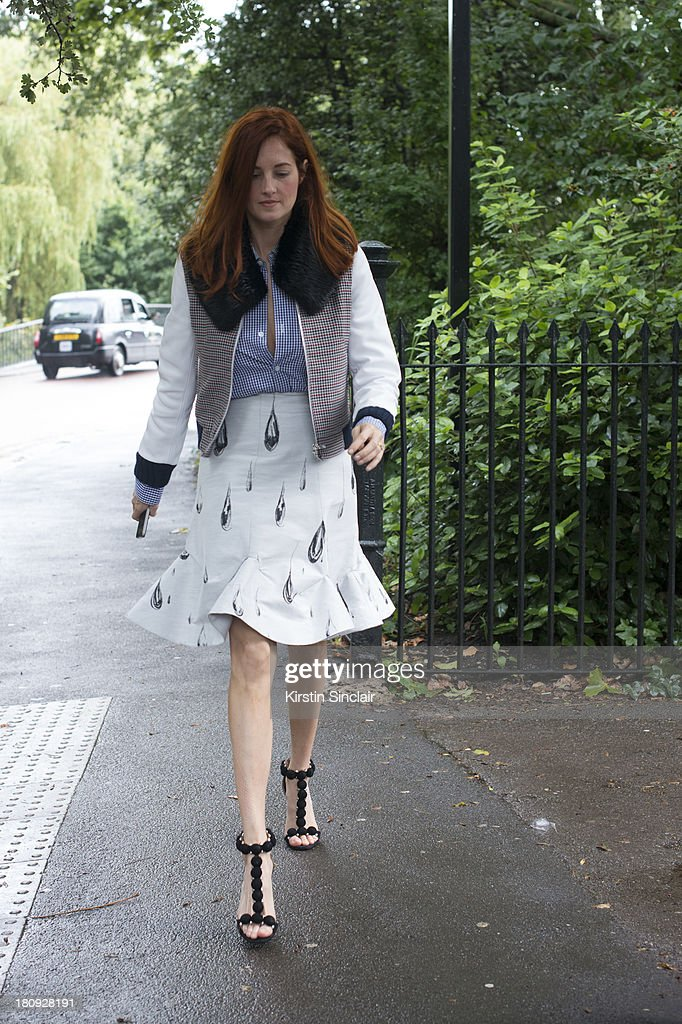 Creative Director at Modus Operandi Taylor Tomasi Hill on day 5 of London Fashion Week Spring/Summer 2013, at Somerset House on September 17, 2013 in London, England.