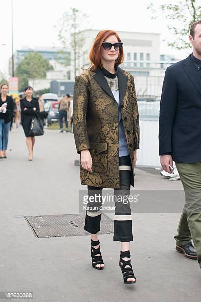 Creative Director at Modus Operandi Taylor Tomasi Hill on day 6 of Paris Fashion Week Spring/Summer 2014 Paris September 29 2013 in Paris France