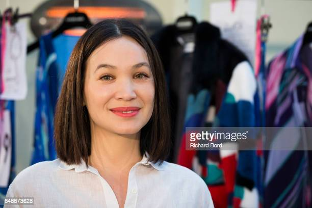 Creative Director Christine Phung poses backstage before the Leonard Paris show during Paris Fashion Week Womenswear Fall/Winter 2017/2018 on March 6...
