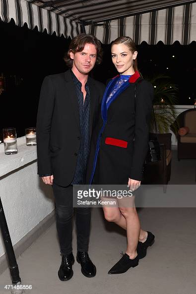 Creative director Christopher Kane and actress Jaime King attend Christopher Kane x mytheresacom dinner at Chateau Marmont on April 28 2014 in Los...
