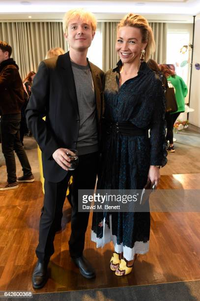 Creative director Dominic Jones poses with The Guardian fashion editor Jess CartnerMorley during the Astley Clarke AW17 Presentation during London...