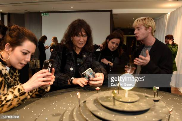 Creative director Dominic Jones speaks about the jewellery to clients and media during the Astley Clarke AW17 Presentation during London Fashion Week...