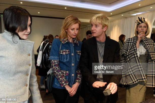 Creative director Dominic Jones speaks with Jewellery Beauty Director Harper's Bazaar UK JulienAnne Dorff during the Astley Clarke AW17 Presentation...