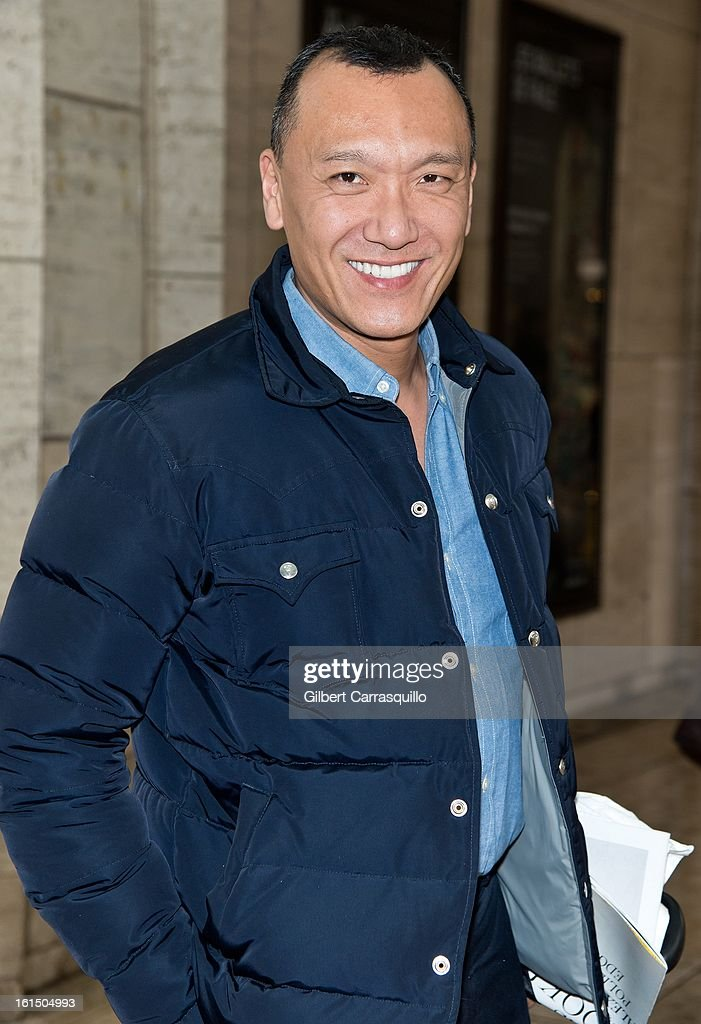 Creative Director, Elle magazine, <a gi-track='captionPersonalityLinkClicked' href=/galleries/search?phrase=Joe+Zee&family=editorial&specificpeople=2257766 ng-click='$event.stopPropagation()'>Joe Zee</a> attends Fall 2013 Mercedes-Benz Fashion Show at The Theater at Lincoln Center on February 11, 2013 in New York City.