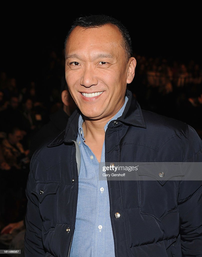 Creative Director, Elle magazine, <a gi-track='captionPersonalityLinkClicked' href=/galleries/search?phrase=Joe+Zee&family=editorial&specificpeople=2257766 ng-click='$event.stopPropagation()'>Joe Zee</a> attends the Carolina Herrera fashion show during Fall 2013 Mercedes-Benz Fashion Week at The Theatre at Lincoln Center on February 11, 2013 in New York City.