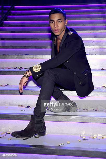 Creative Director for Balmain Olivier Rousteing attends the BALMAIN X HM Collection Launch at 23 Wall Street on October 20 2015 in New York City