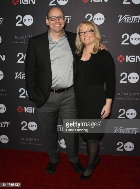 Creative director for WayForward Technologies and Matt Bozon and his wife animator for WayForward Technologies Erin Bozon attend the 20th annual DICE...