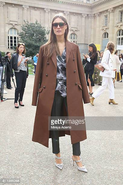 Creative director Giorgia Tordini attends the Chloe show as part of the Paris Fashion Week Womenswear Spring/Summer 2017 on September 29 2016 in...