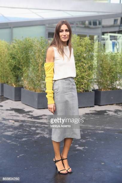 Creative director Giorgia Tordini attends the Haider Ackermann show as part of the Paris Fashion Week Womenswear Spring/Summer 2018 on September 30...