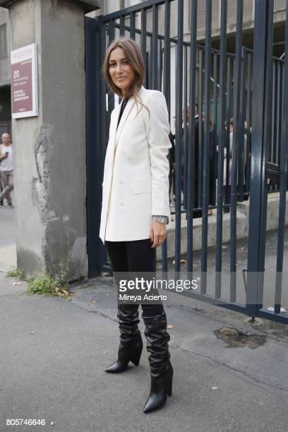 Creative director Giorgia Tordini attends the Rodarte Haute Couture fashion show on July 2 2017 in Paris France