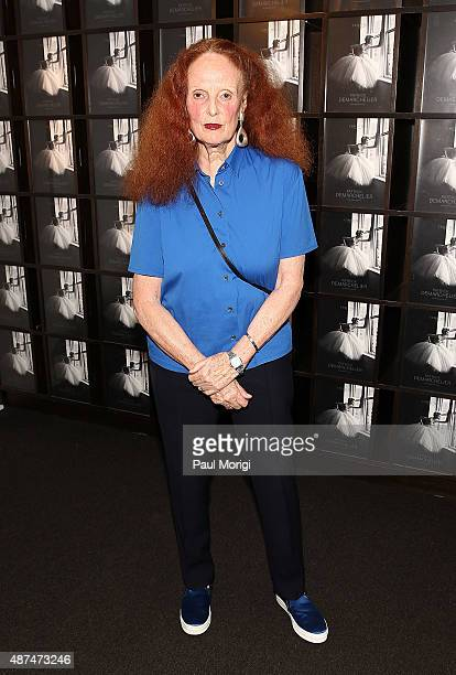 Creative director Grace Coddington attends the 'Patrick Demarchelier' special exhibition preview to celebrate NYFW The Shows for Spring 2016 at...